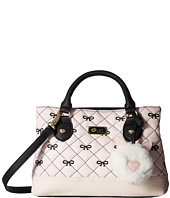 Luv Betsey - Candi Quilted Mini Triple Compartment Satchel