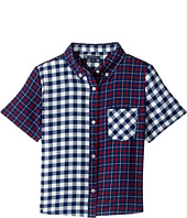 Tommy Hilfiger Kids - Mix Plaid Short Sleeve Shirt (Big Kids)