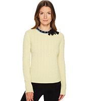 RED VALENTINO - Carded Cabled Mix Wool Yarn Top