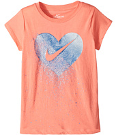 Nike Kids - Glitter Heart Short Sleeve Tee (Little Kids)