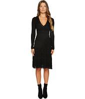 M Missoni - Solid Knit V-Neck Dress