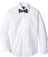 Tommy Hilfiger Kids - Long Sleeve Stretch Shirt with Bowtie (Big Kids)