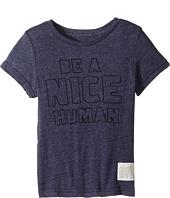The Original Retro Brand Kids - Be A Nice Human Short Sleeve Tri-Blend Tee (Little Kids/Big Kids)