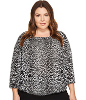 MICHAEL Michael Kors - Plus Size Cheetah Peasant Top