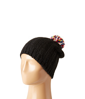 Hat Attack - Rib Slouchy with Confetti Pom