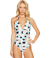 Trina Turk - Disco Deco V-Plunge One-Piece