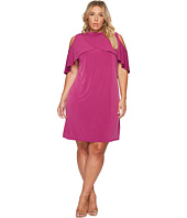 London Times - Plus Size MJ Tiered Shift Dress w/ Neckband