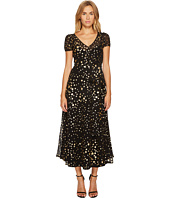 RED VALENTINO - Lame Stars Print, Silk Georgette Dress