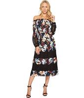 CATHERINE Catherine Malandrino - Smocked Neck Lace Peasant Sleeve Dress
