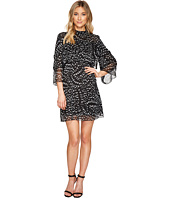 CATHERINE Catherine Malandrino - 3/4 Sleeve Large Ruffle A-Line Dress