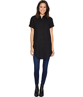 CATHERINE Catherine Malandrino - Short Sleeve Button Front Tunic with Collar