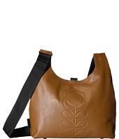 Orla Kiely - Embossed Flower Stem Leather Midi Sling Bag