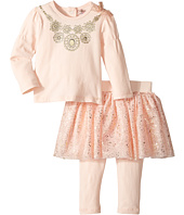 Nanette Lepore Kids - Necklace Top with Foil Tutu and Leggings Set (Infant)