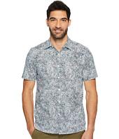 Perry Ellis - Short Sleeve Slim Fit Spackle Print Button Down Shirt