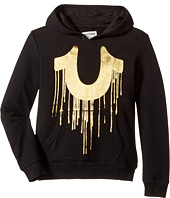 True Religion Kids - Gold Drippy Hoodie (Toddler/Little Kids)