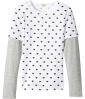 Kenzo Kids - Eyes Long Sleeves Tee Shirt (Big Kids)