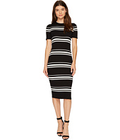MINKPINK - Stripe Rib Sweater Midi Dress