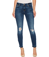 7 For All Mankind - The Ankle Skinny w/ Released Hem & Destroy in Stunning Bleeker 2