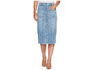 Button Front Pieced Skirt in Rockaway Beach 2