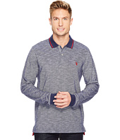 U.S. POLO ASSN. - Classic Fit Solid Long Sleeve Pique Polo Shirt