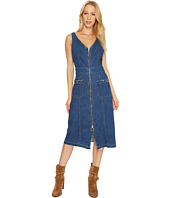 7 For All Mankind - V-Neck Zip Front Dress in Sunrise