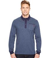 U.S. POLO ASSN. - Classic Fit Striped Long Sleeve Pique Polo Shirt