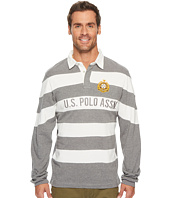 U.S. POLO ASSN. - Slim Fit Color Block Long Sleeve Pique Polo Shirt
