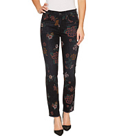 7 For All Mankind - Roxanne Ankle w/ Raw Hem in Print on Noir