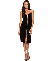 7 For All Mankind - Velvet Slip Dress w/ Zip in Black