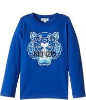 Kenzo Kids - Tiger Long Sleeves Tee Shirt (Toddler/Little Kids)
