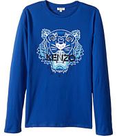 Kenzo Kids - Tiger Long Sleeves Tee Shirt (Big Kids)