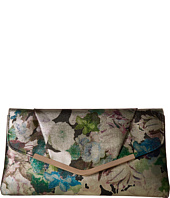 Jessica McClintock - Arielle Metallic Floral Large Envelope Clutch