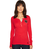 U.S. POLO ASSN. - Rib Knit Henley with Elbow Patches