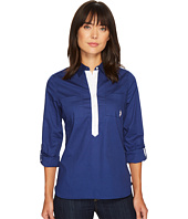 U.S. POLO ASSN. - Contrast Placket Pullover Roll Sleeve Shirt