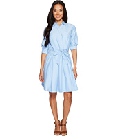 U.S. POLO ASSN. - Oxford Shirtdress with Paper Bag Waistline