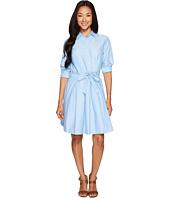 U.S. POLO ASSN. - Oxford Shirtdress with Paper Bag Waistline