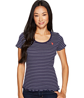 U.S. POLO ASSN. - Short Sleeve Rib Knit Striped T-Shirt