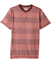 Lucky Brand Kids - Short Sleeve Henley Striped (Big Kids)