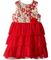 Nanette Lepore Kids - Lurex Jacquard Bodice with Layered Tulle Bottom Dress (Infant)