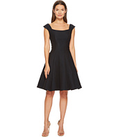 Zac Posen - Gauffre Jacquard Sleeveless Fit and Flare Dress