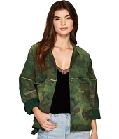 Free People - Slouchy Military Jacket - Camo