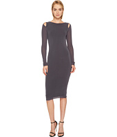 FUZZI - Cut Out Shoulder Solid Dress Cover-Up