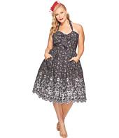 Unique Vintage - Plus Size Billie Halter Swing Dress