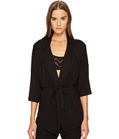 ELSE - Chevron Cashmere Blend Tunic Jacket with Hoodie