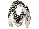 Military Dot Pleated Square Scarf