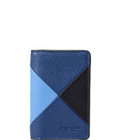COACH - Refined Pebbled Patchwork Card Wallet