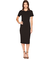 Nicole Miller - Riley Short Sleeve Ribbed Cut Out Dress