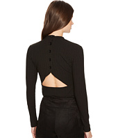 Jack by BB Dakota - Adria Rib Knit Cut Out Back Mock Neck Top