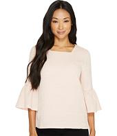 Calvin Klein - Textured Square Neck Flutter Sleeve Blouse