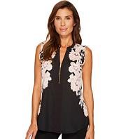 Calvin Klein - Sleeveless Print Top with 1/2 Zip